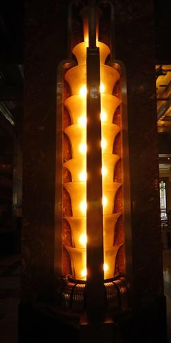 Art Deco lighting fixtures in the Palacio de Bellas Artes, Mexico City