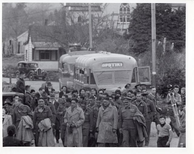 Māori Battalion return, 1945