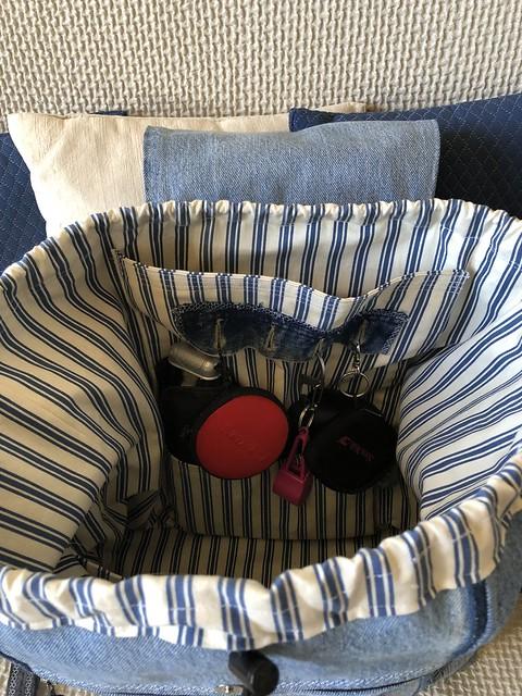 Sac à dos en jean recyclé - intérieur (fond)