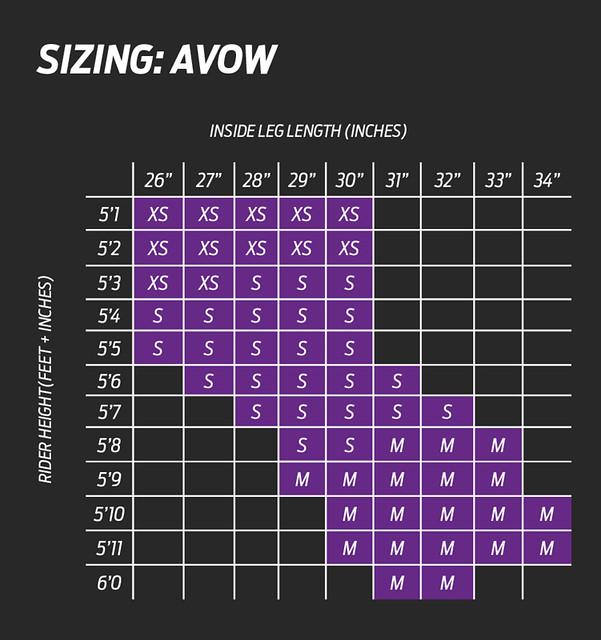 Liv Avow TT Tri Bike Size Chart