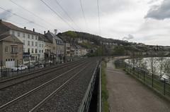 Thionville-Trier railway through Sierck-les-Bains, 16.04.2018.