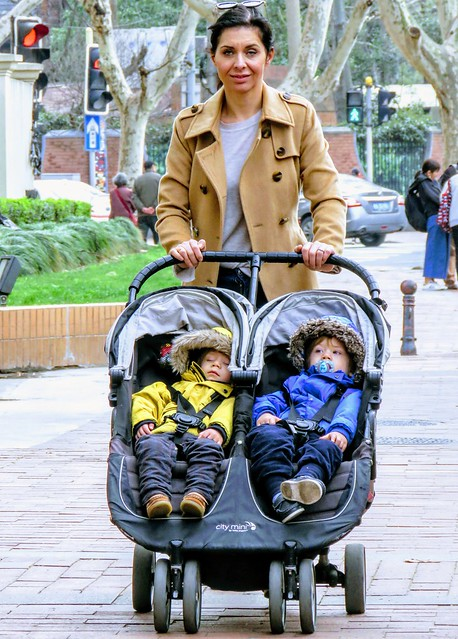 Mother and babies, #Shanghai