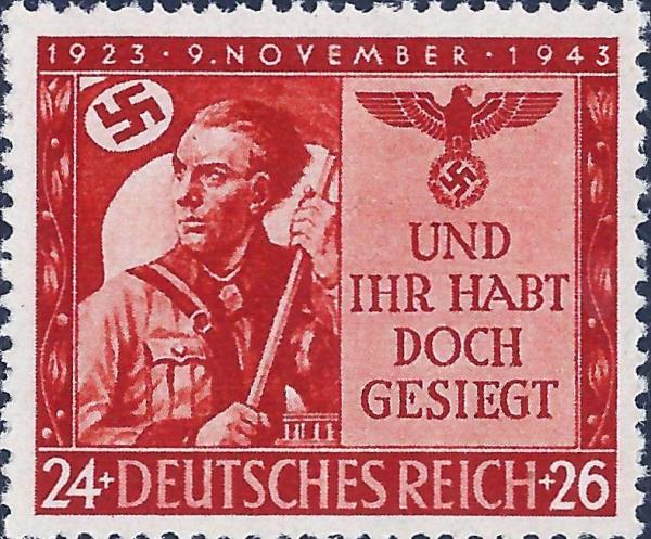 Známka Nemecká ríša 1943 Pivnica Putsch