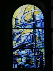 20080830 28583 Jakobus Montbrison Kloster Fenster blau - Photo of Essertines-en-Châtelneuf