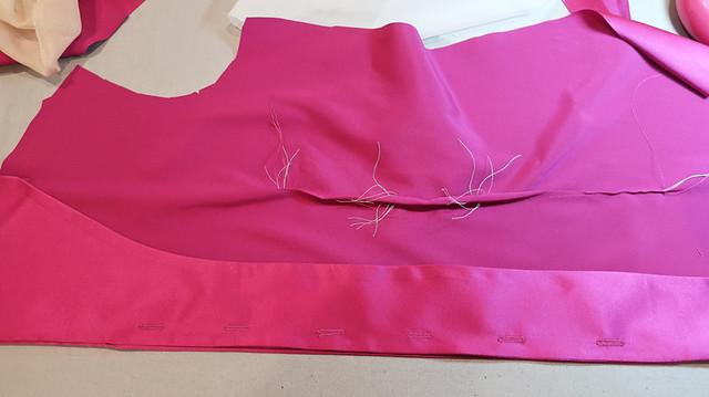 pink silk shirt hidden buttonholes 2
