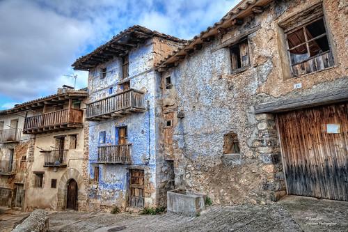 Antiguas casas en Peñarroya de Tastavins (Comarca del Matarraña). Teruel