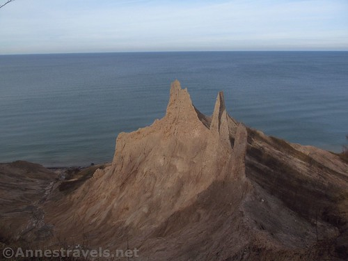 Some of the formations seem to knife-edge thin at Chimney Bluffs State Park, New York