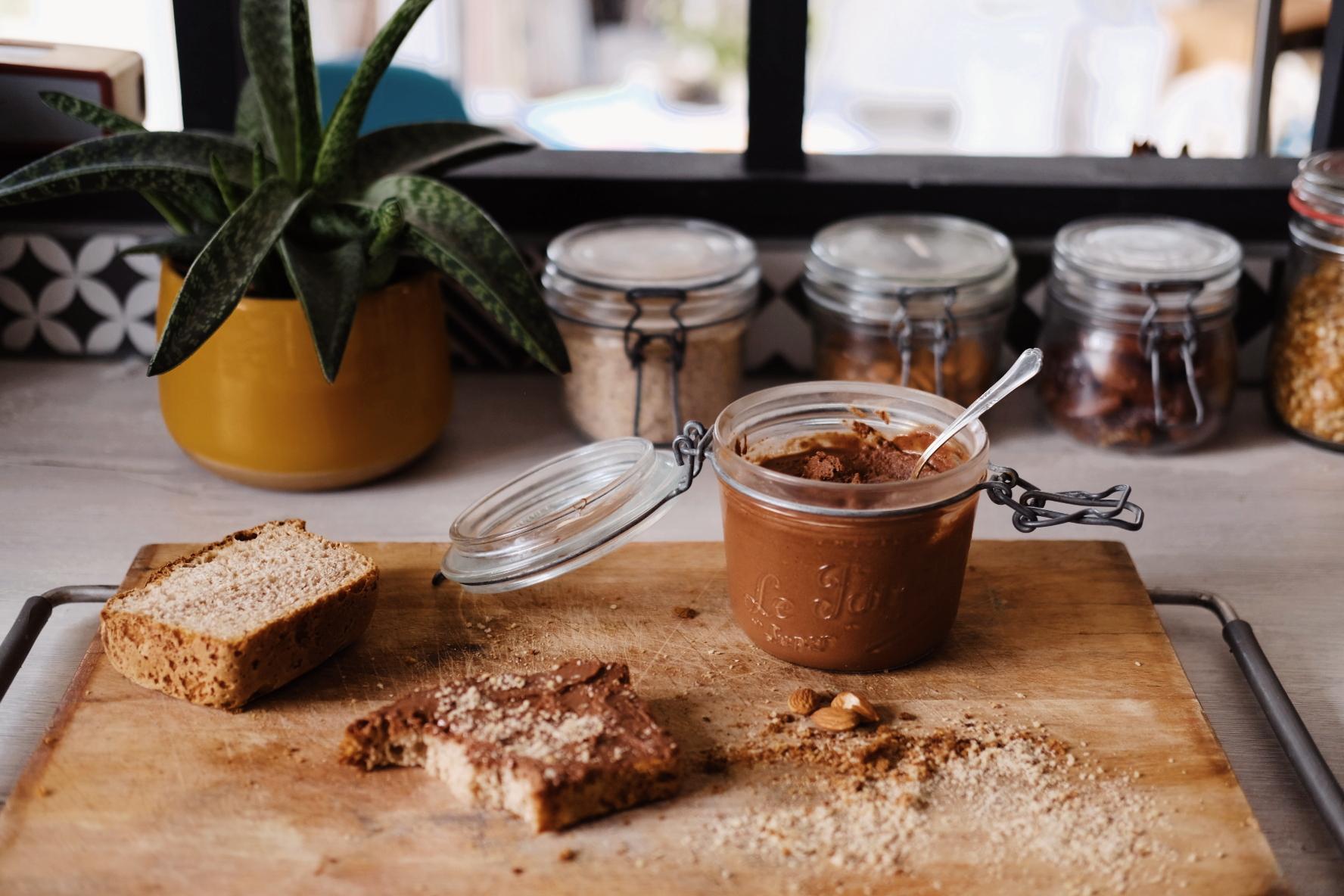 Pâte à tartiner chocolat noisette maison