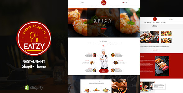Eatzy v1.1 - Restaurant Sectioned Shopify Theme
