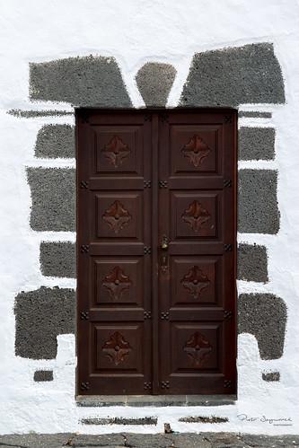 Door in midday light