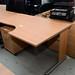 Ex demo small beech corner desk E125