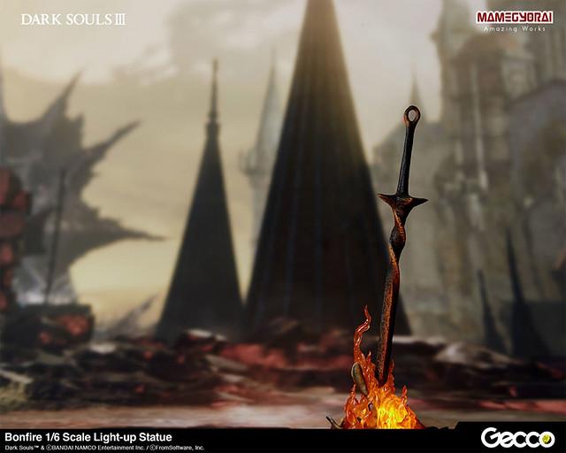 Gecco《黑暗靈魂3》篝火(Bonfire)1/6比例發光雕像(篝火 1/6スケールライトアップスタチュー)