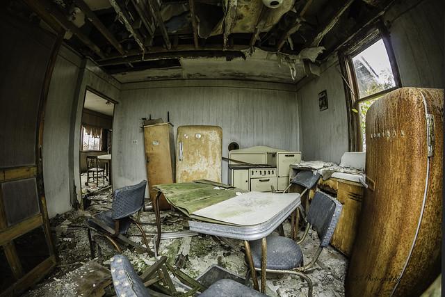 kitchen area of Peyok School on Kinde rd