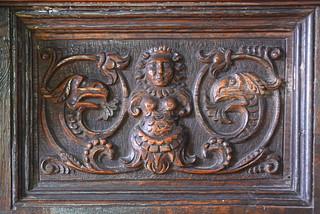 mermaid panel on pulpit
