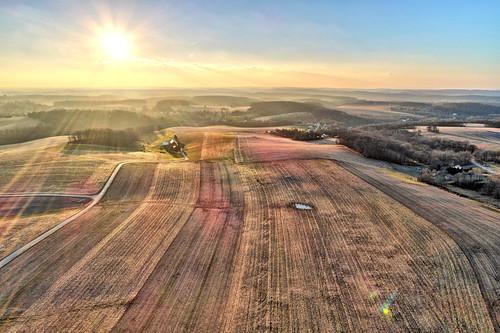 shrewsbury pa pennsylvania sunset aerial drone dji phantom 4