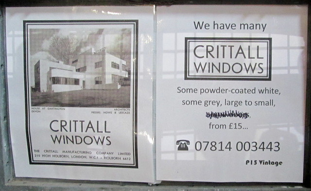 Advert for Critall Windows