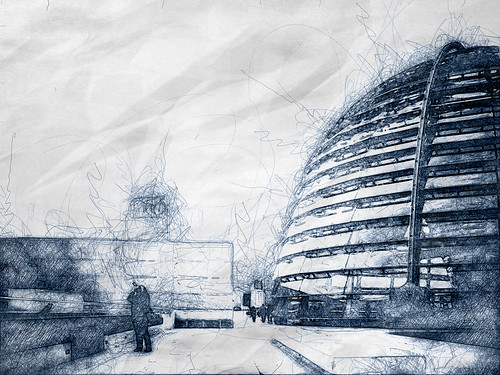 Reichstag Dome - Digital Scribble