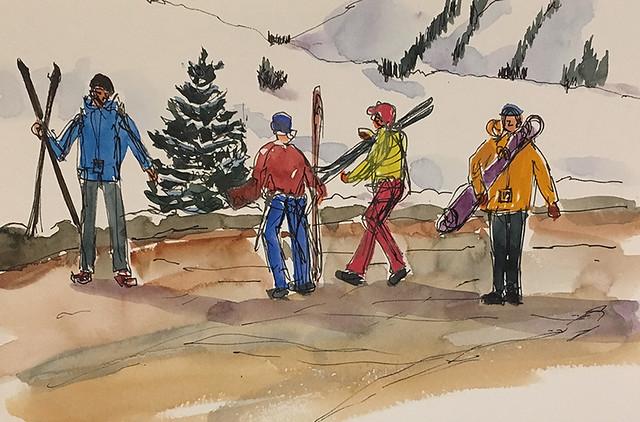 190120 Skiers Vail Colorado
