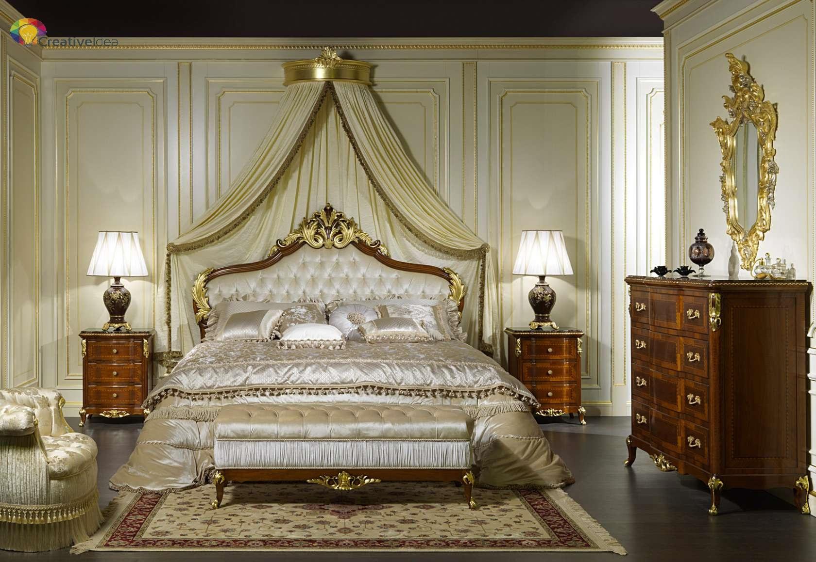Classic room decor Louis XV France