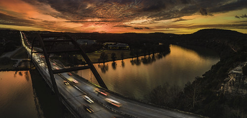 pennybackerbridge pennybacker bridge sunset