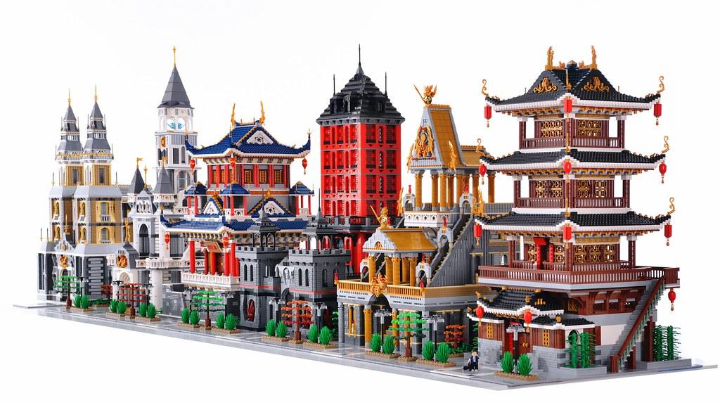 LEGO MOC 作品,古韵街系列作品-檀香竹韵