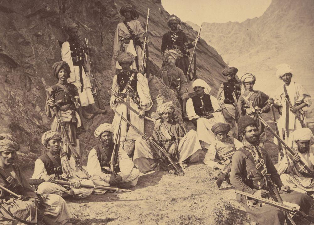 Афганские воины-пуштуны