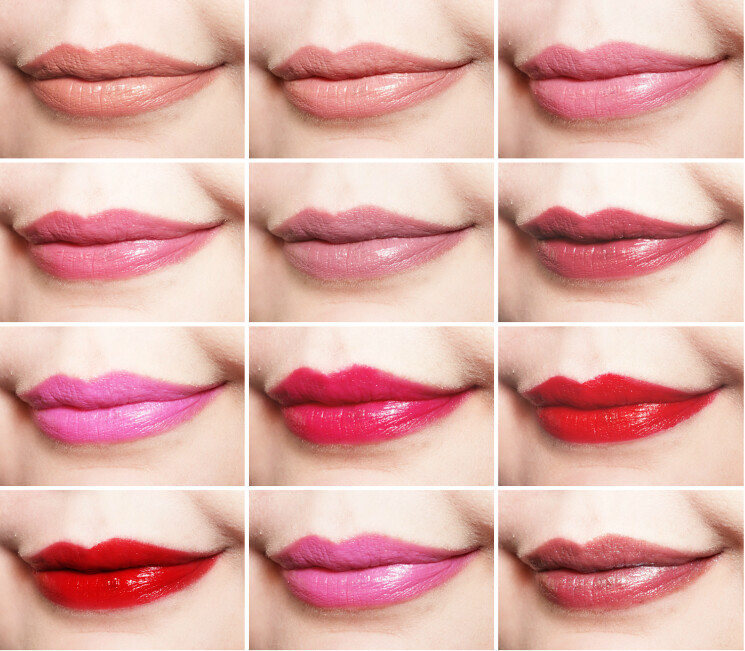 kiss luscious shine lip swatches