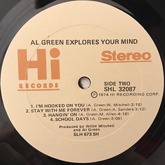 AL GREEN:EXPLORES YOUR MIND(LABEL SIDE-B)