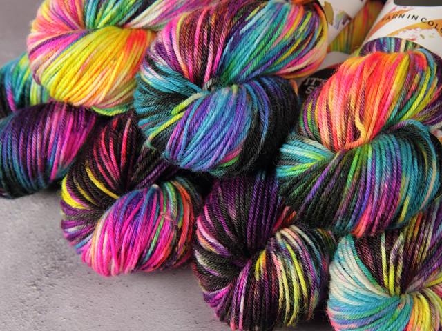 Dynamite DK British pure wool superwash hand dyed yarn 100g – 'Shinjuku'