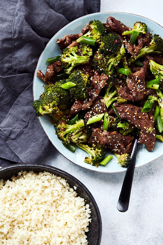 Easy Sheet Pan Keto Beef and Broccoli (w/ Stovetop option) {Paleo, Whole30}