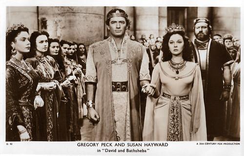 Gregory Peck and Susan Hayward in David and Bathsheba (1951)