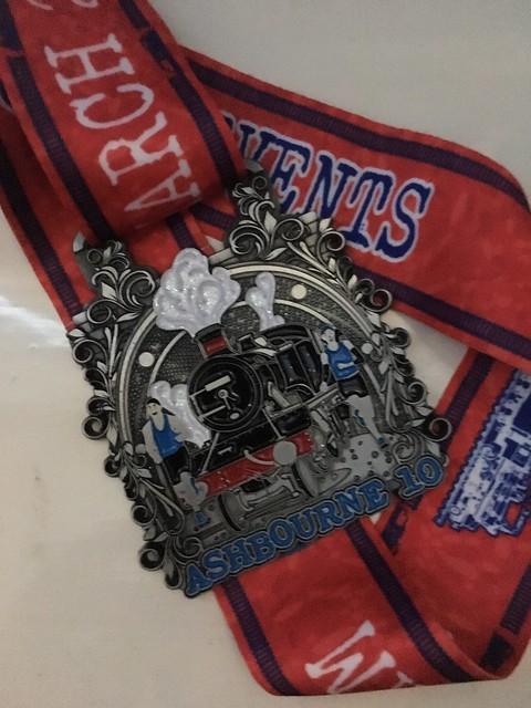 Ashbourne 10 2019 finishers medal
