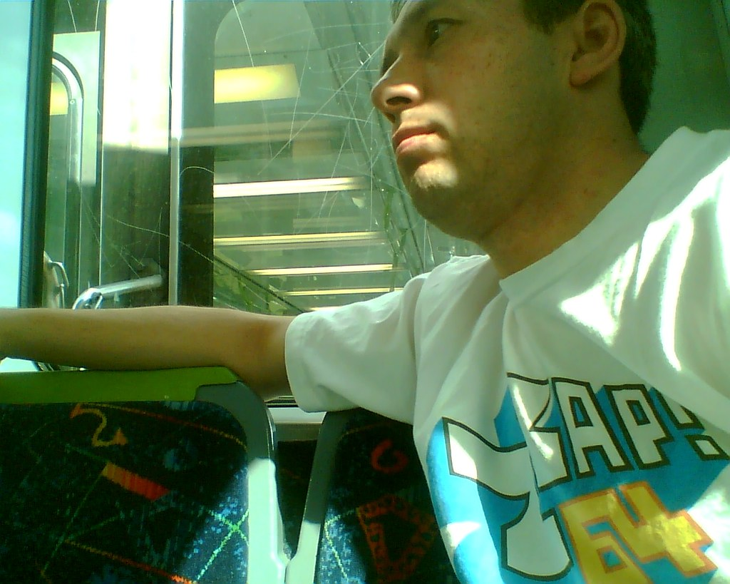 Selfie on train, December 2008