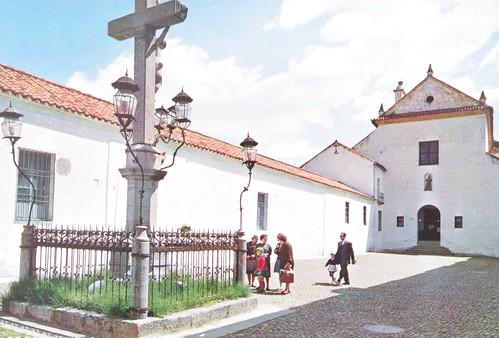 Postal y sello del Cristo de los Faroles.
