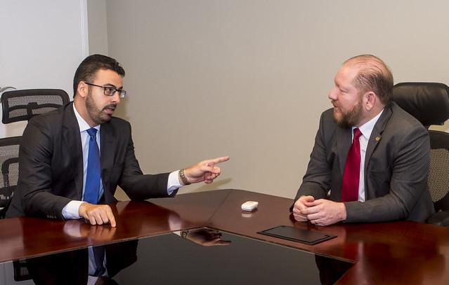 Angelo Santos visita presidente da Assembleia, deputado Othelino Neto
