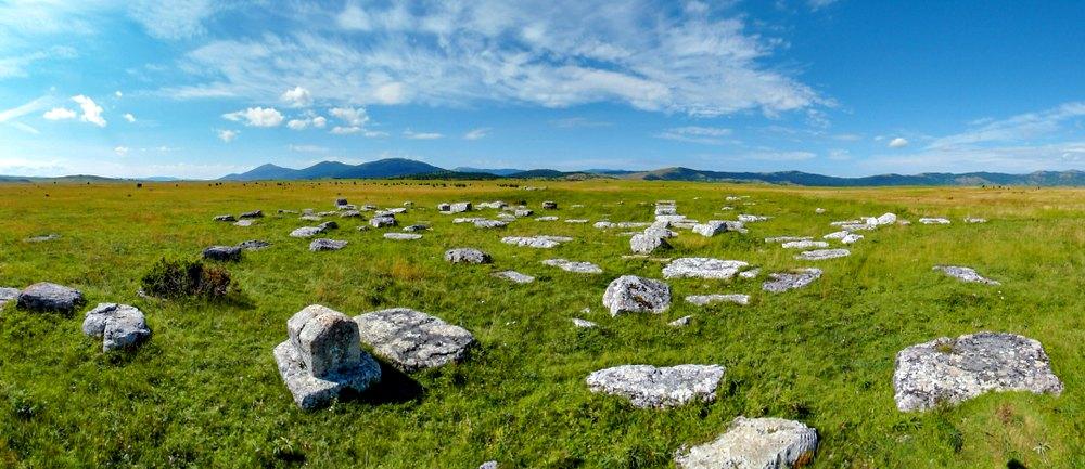 Medieval tombstones (Croatian: stećci)