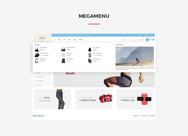 Ap Sporty Amazing Fashion Trend Prestashop Sport Theme - smart megamenu