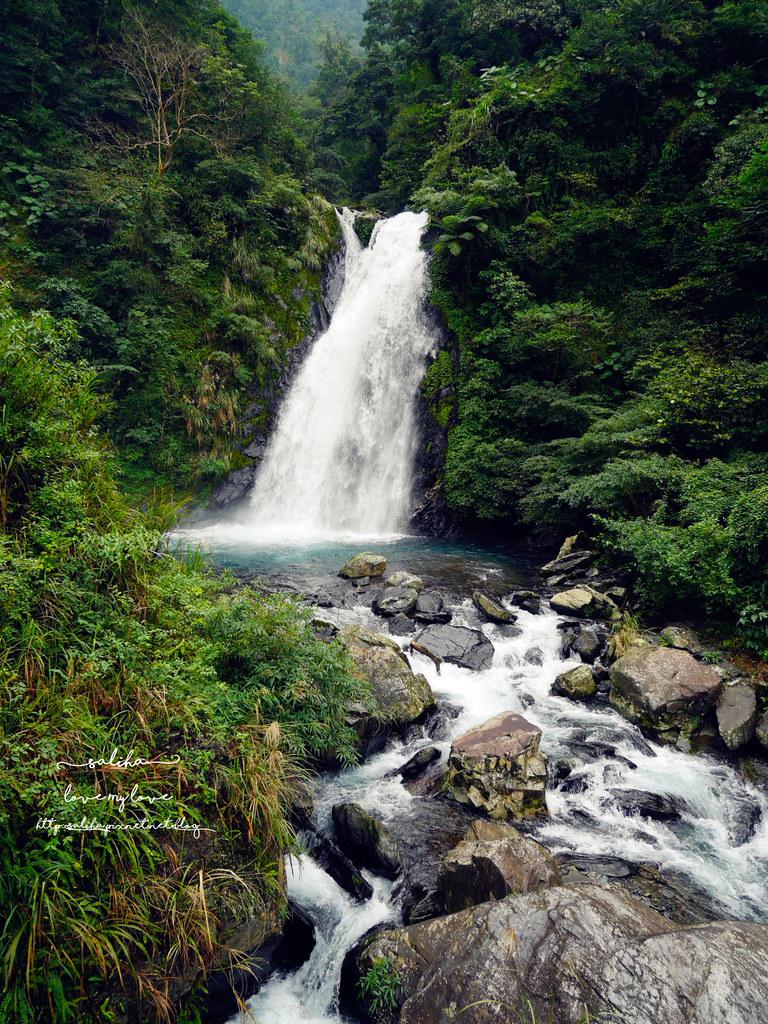 宜蘭冬山鄉好玩踏青郊遊爬山景點旅遊新寮瀑布第二層瀑布開放 (8)