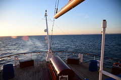A view from the Sun Deck of the Royal Clipper