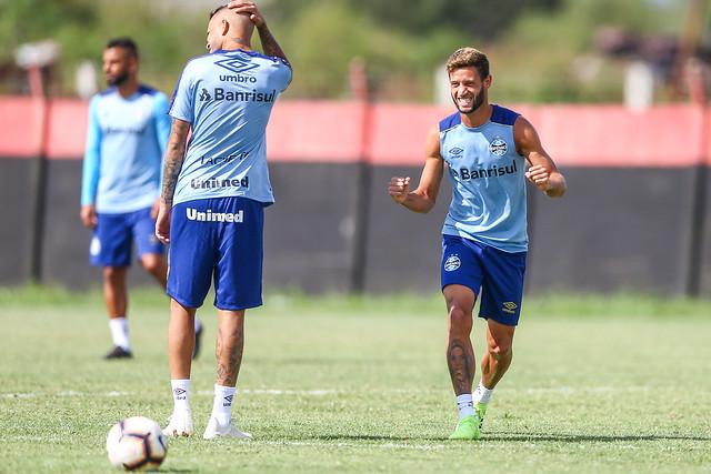 Treino Grêmio em Rosário 05/03/19