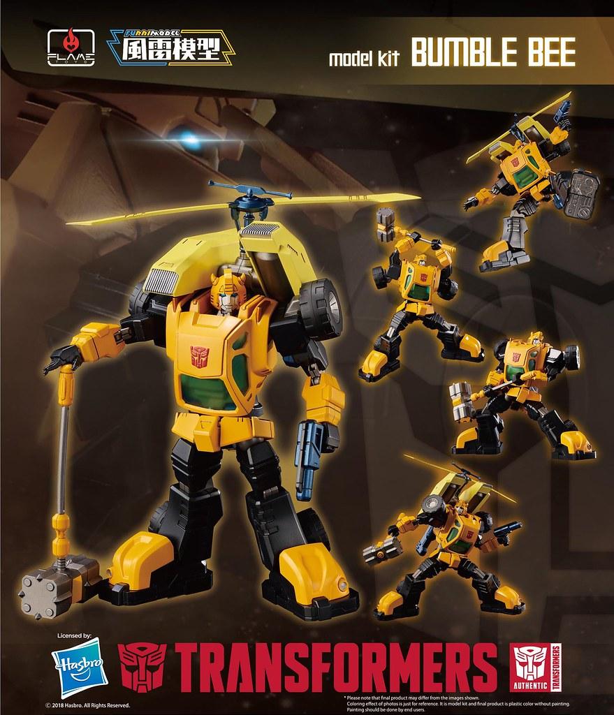 讓老粉絲懷念的經典造型! Flame Toys Fural Model 系列 變形金剛【大黃蜂】Bumblebee Model Kit 組裝模型