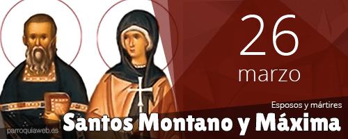 Santos Montano y Máxima