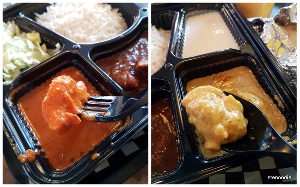 Butter Chicken and Goat Curry