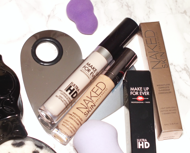 make up for ever ultra hd & urban decay naked skin concealer (6)