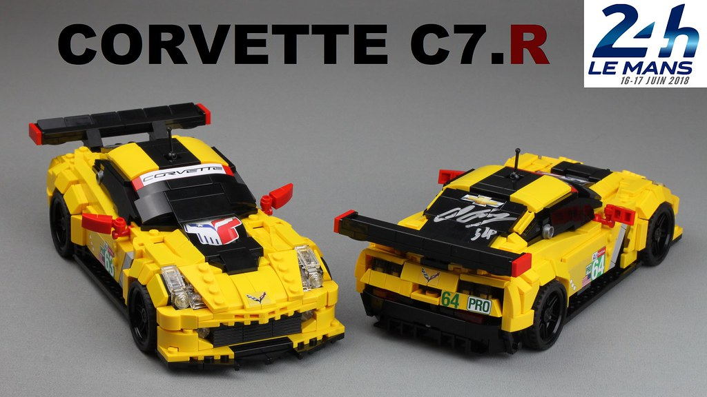 2018 Corvette C7.R - Building instructions on BrickHub.org for both models with stickers