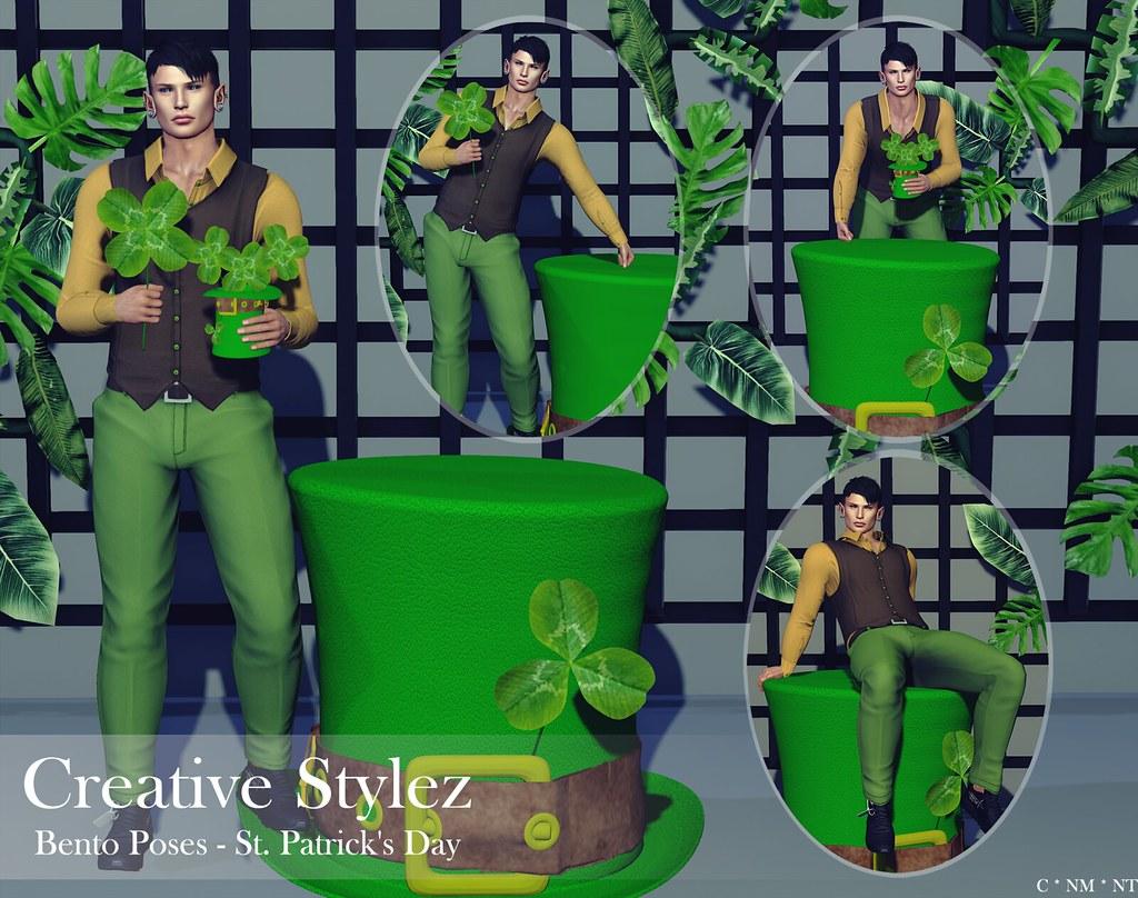 Creative Stylez – Bento Poses – St. Patrick's Day –
