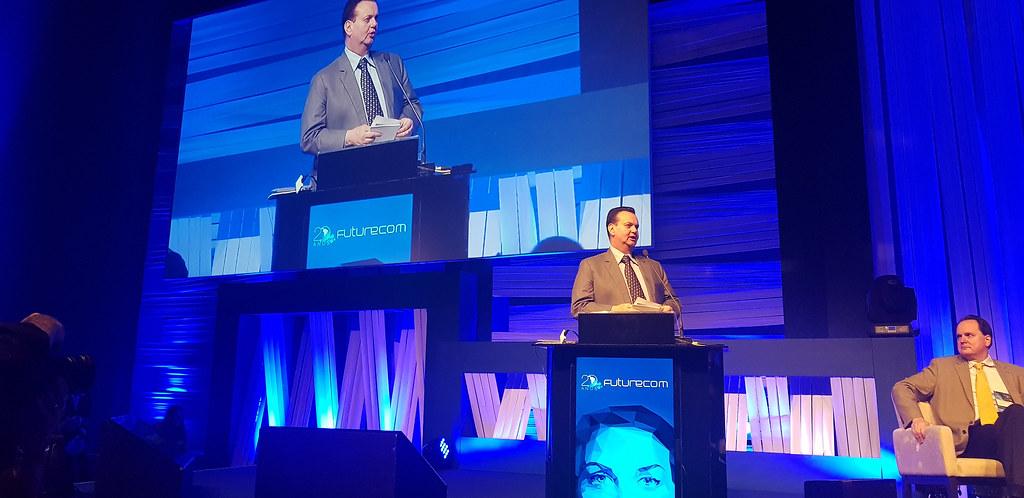 Cerimônia de abertura do Futurecom. 15 de outubro de 2018 - Fotos: Celio Soares.
