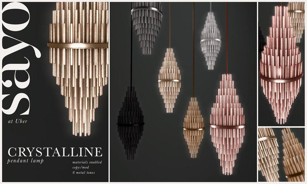 SAYO Crystalline Pendant Lamp @ UBER