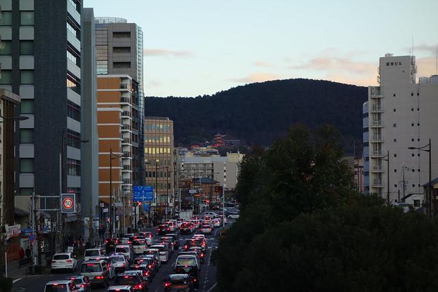 五条通歩道橋から清水寺#02 (2019/01)