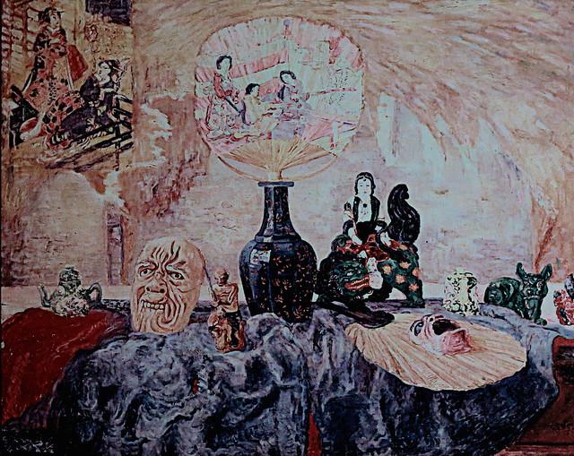 Photo:IMG_4553D James Ensor. 1860-1949. Bruxelle Ostende.  Still Life with  chinoiseries. 1907.  Ostende. Maison Ensor.  Original au Musée de Deurie (Belgique) By jean louis mazieres
